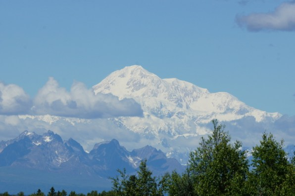 Beautiful Mt. McKinley, 20,320 feet tall, is the tallest mountain in North America