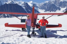 Loving every minute of our time on Ruth glacier