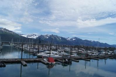 Small boat harbor in Seward, Alaska