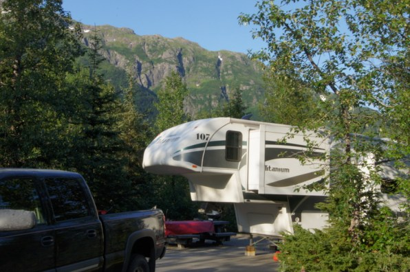 Beautiful campsite at Williwaw Campground in Chugach National Forest