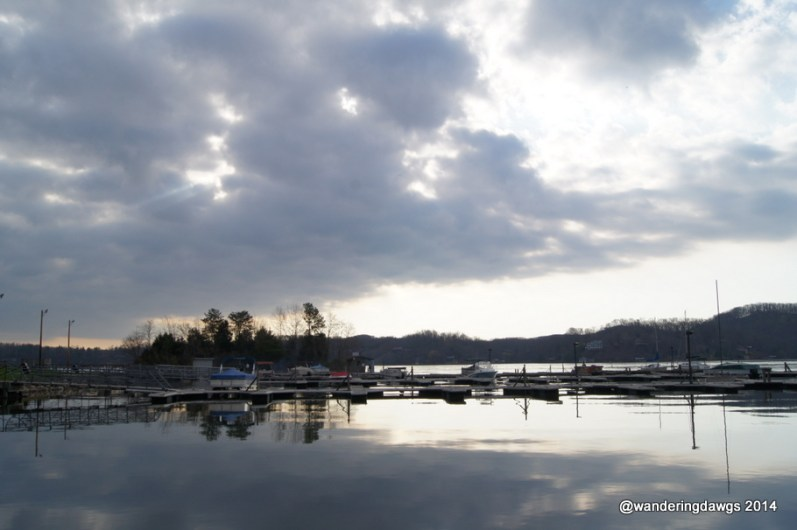 Early morning at the Claytor Lake Marina