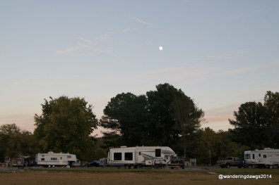 Almost a Full Moon over the campground