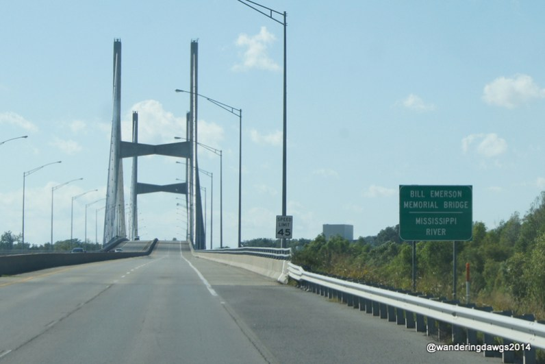Crossing the Mississippi River into Missouri at Cape Giradeau
