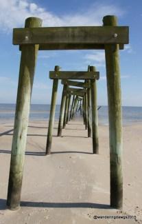 Dock remains in Waveland, Mississippi