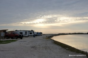 Morning sky from our site at Goose Island State Park