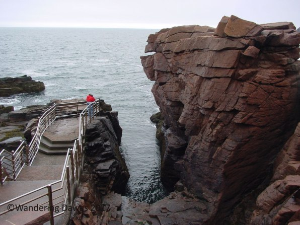 At the Thunder Hole in Acadia National Park