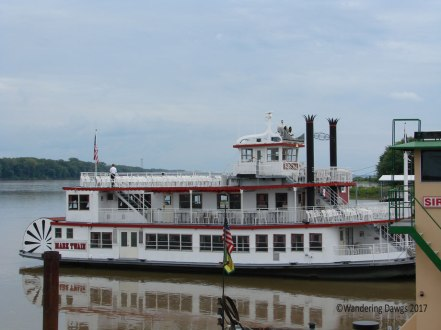 We took a ride up the Mississippi River on the Mark Twain Riverboat