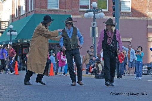 Gunslingers in the streets of Deadwood