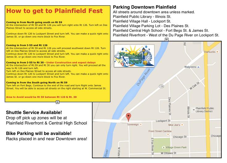 Plainfield Fest Parking