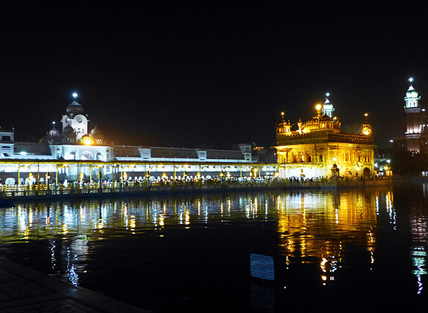 Golden Temple, Amritsar - at night