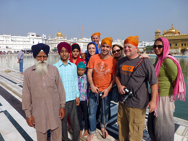 Group at Golden Temple