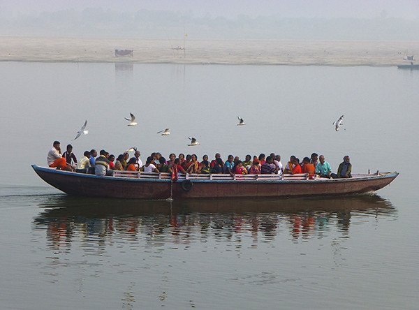 Boat on the Ganges (Varanasi)