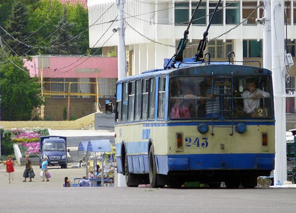 Bus in Tiraspol, Transnistria