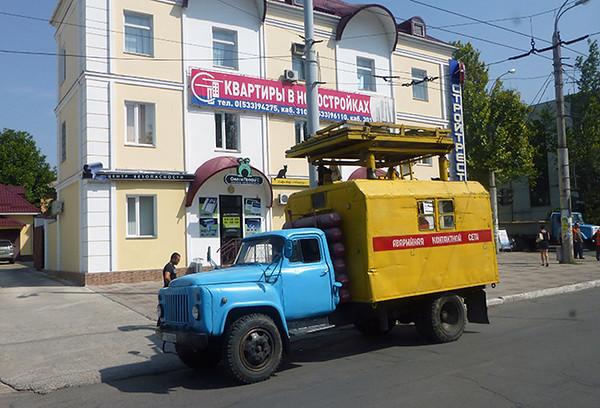 Old truck in Tiraspol