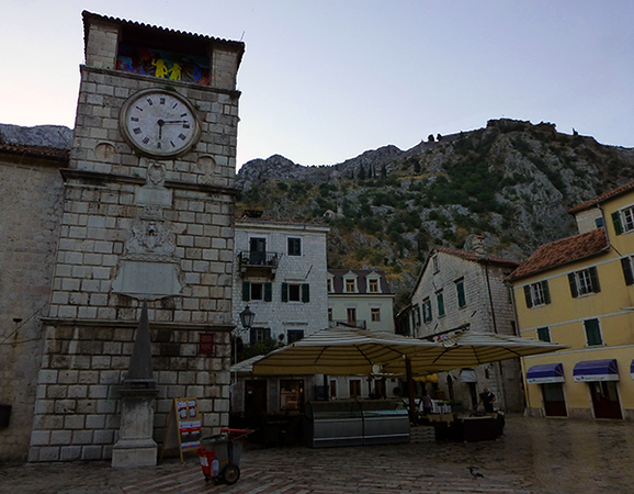 Plaza in Kotor, Montenegro