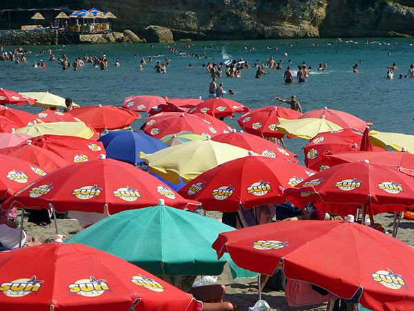 Main Beach in Ulcinj, Montenegro