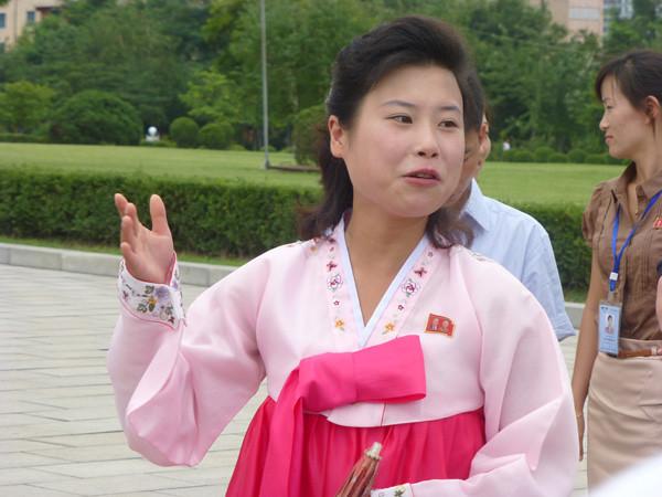 Guide in Pyongyang