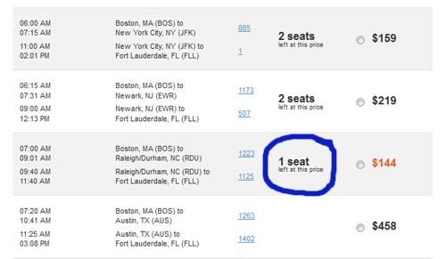 1 Seat Left
