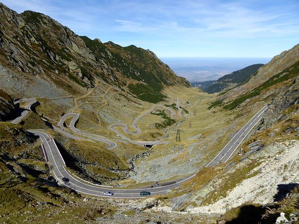 Transfagarasan view facing north