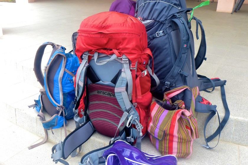 Backpacks from my RTW adventure. Not all mine!