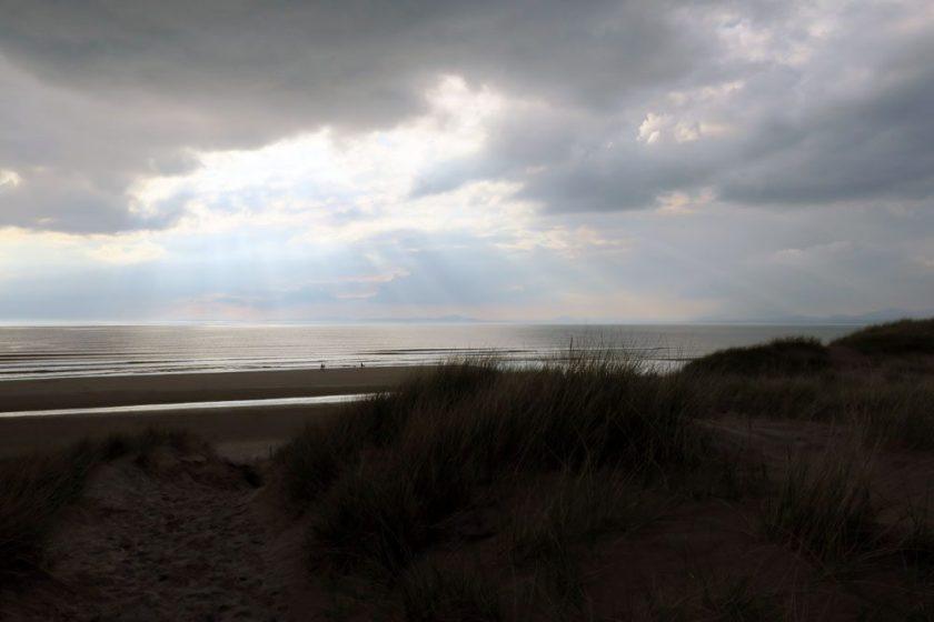 Sunset beach North Wales