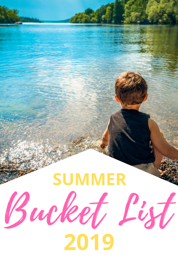 ultimate summer family bucket list ideas. Free activities, indoor rainy day activities, outdoor backyard water activities, crafts, STEM and tasty treats. The ideas are endless for a perfect family summer on a tight budget