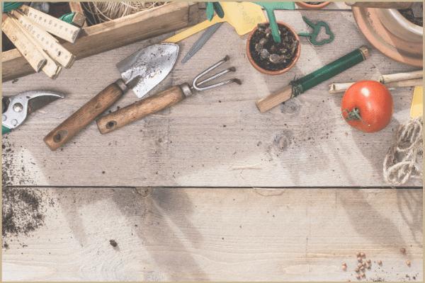 gardening tools on board