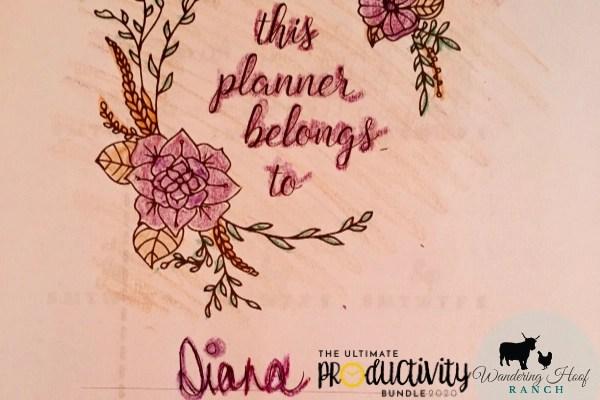 my printable planner