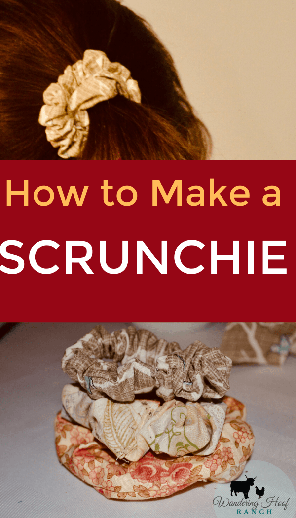 How to make a scrunchie using a sewing machine, diy pattern