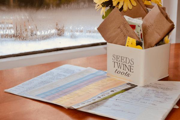 organizing seed bin and schedule