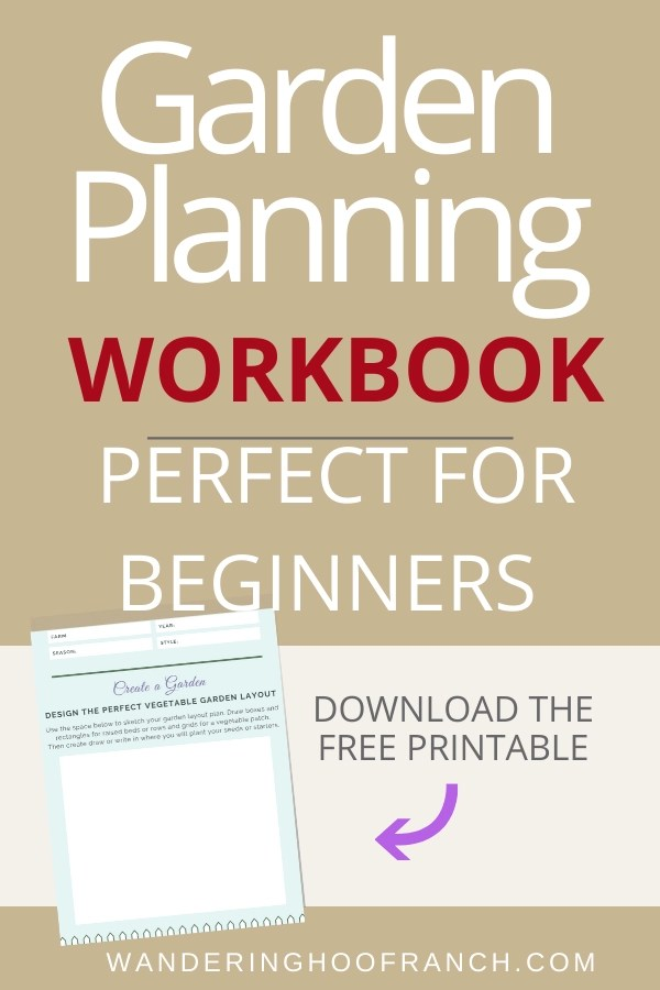 Garden Planning Workbook Perfect for Beginners Pin