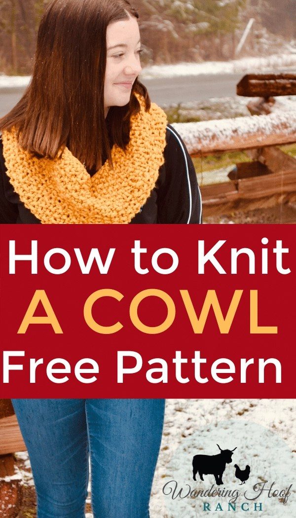 How to Knit a Cowl Free Pattern Pin