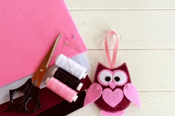 basic felt owl craft