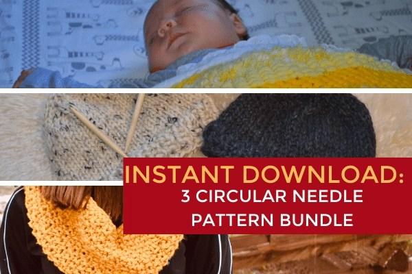 instant download circular needle bundle image