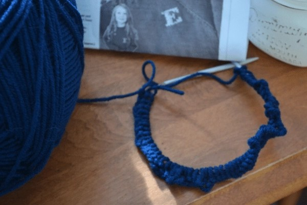 casted on stitches on circular needles