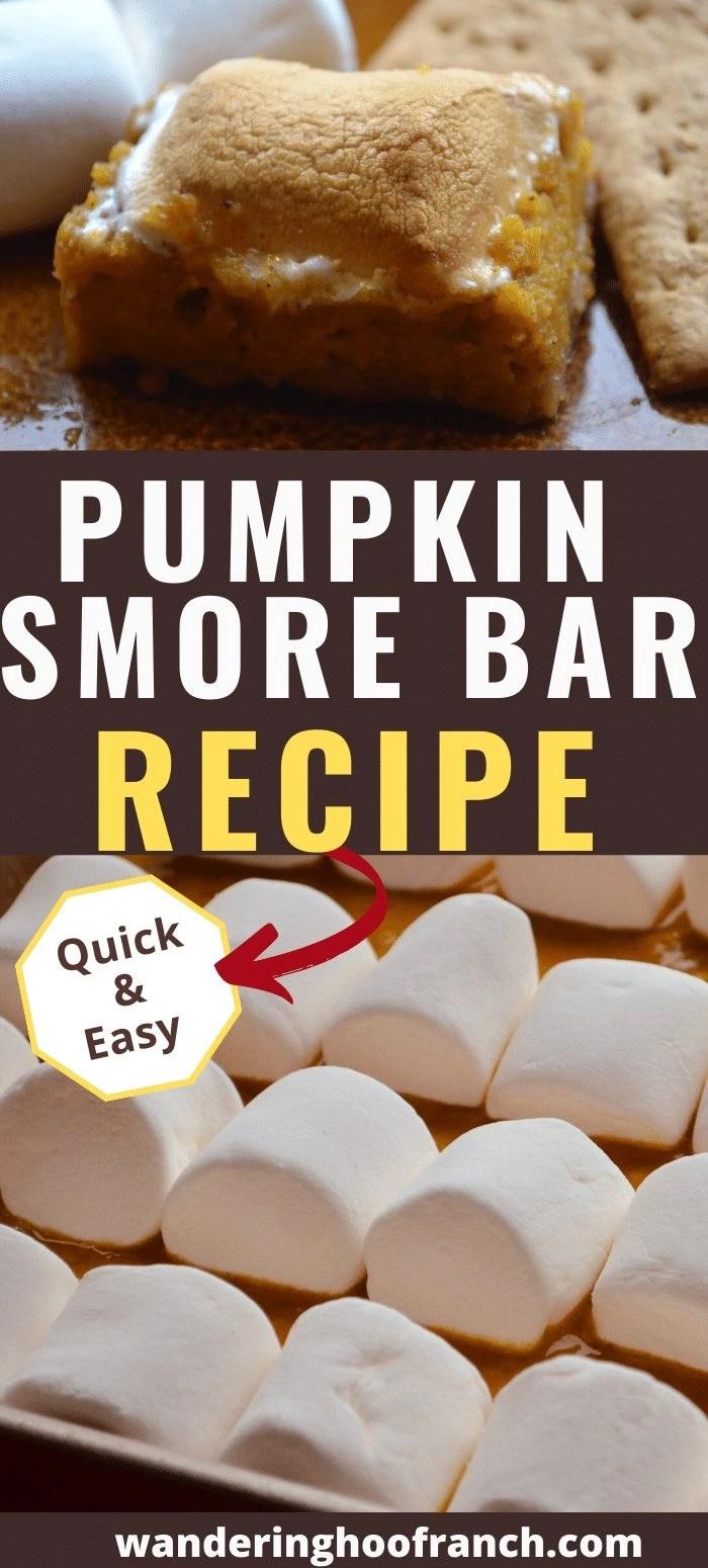 Pumpkin Smore Bar Recipe, Quick and Easy