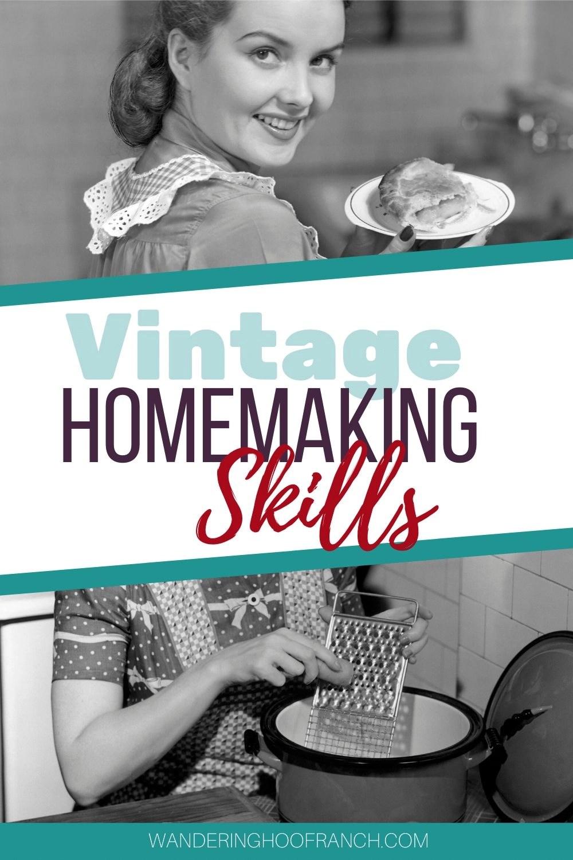 vintage homemaking skills