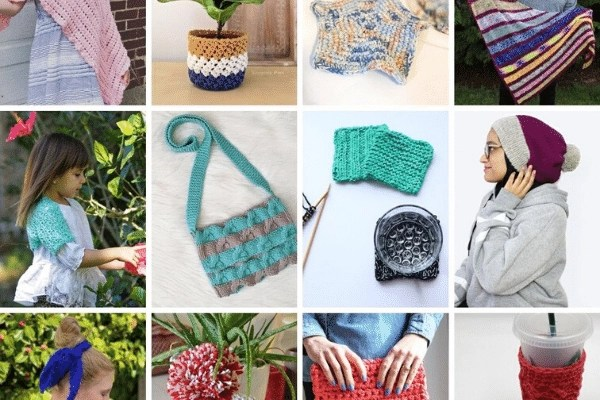 collection of knitting and crochet patterns image