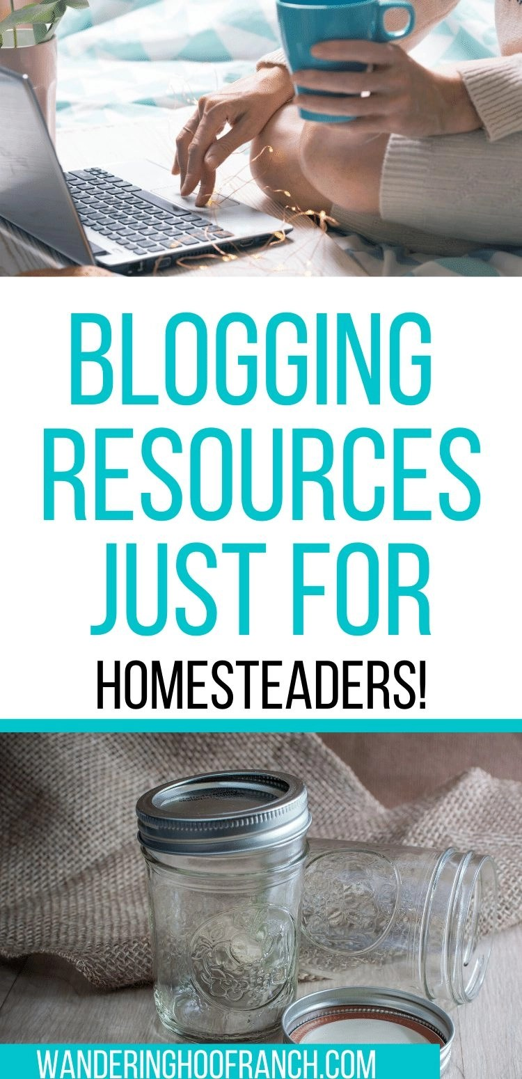Blogging Resources just for homesteaders pin