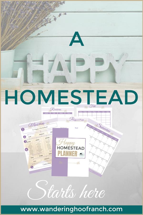 Happy Homestead Planner Side Bar Banner