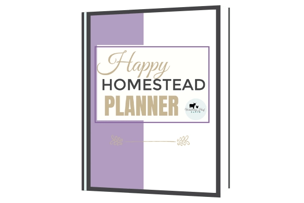 happy homestead planner cover image mock up