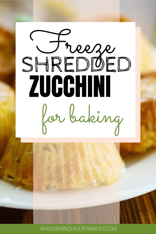 HOW TO FREEZE ZUCCHINI FOR BAKING