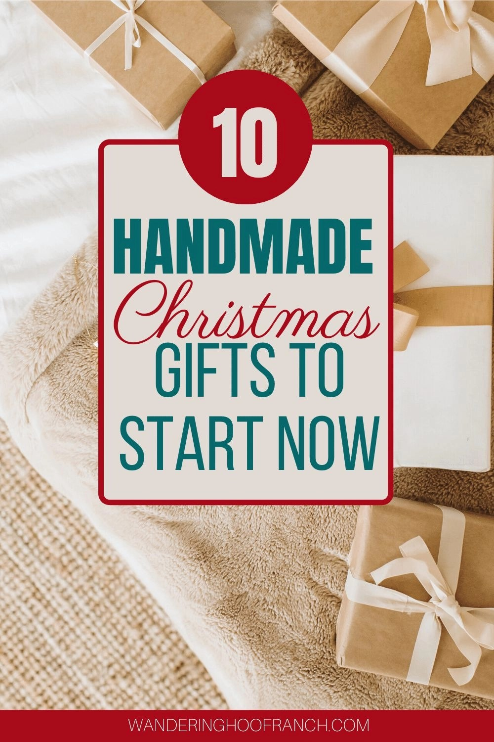 handmade christmas gifts to start now