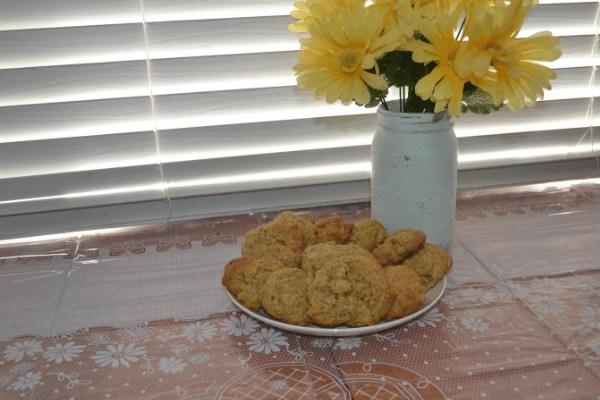 zucchini oatmeal cookies on tray