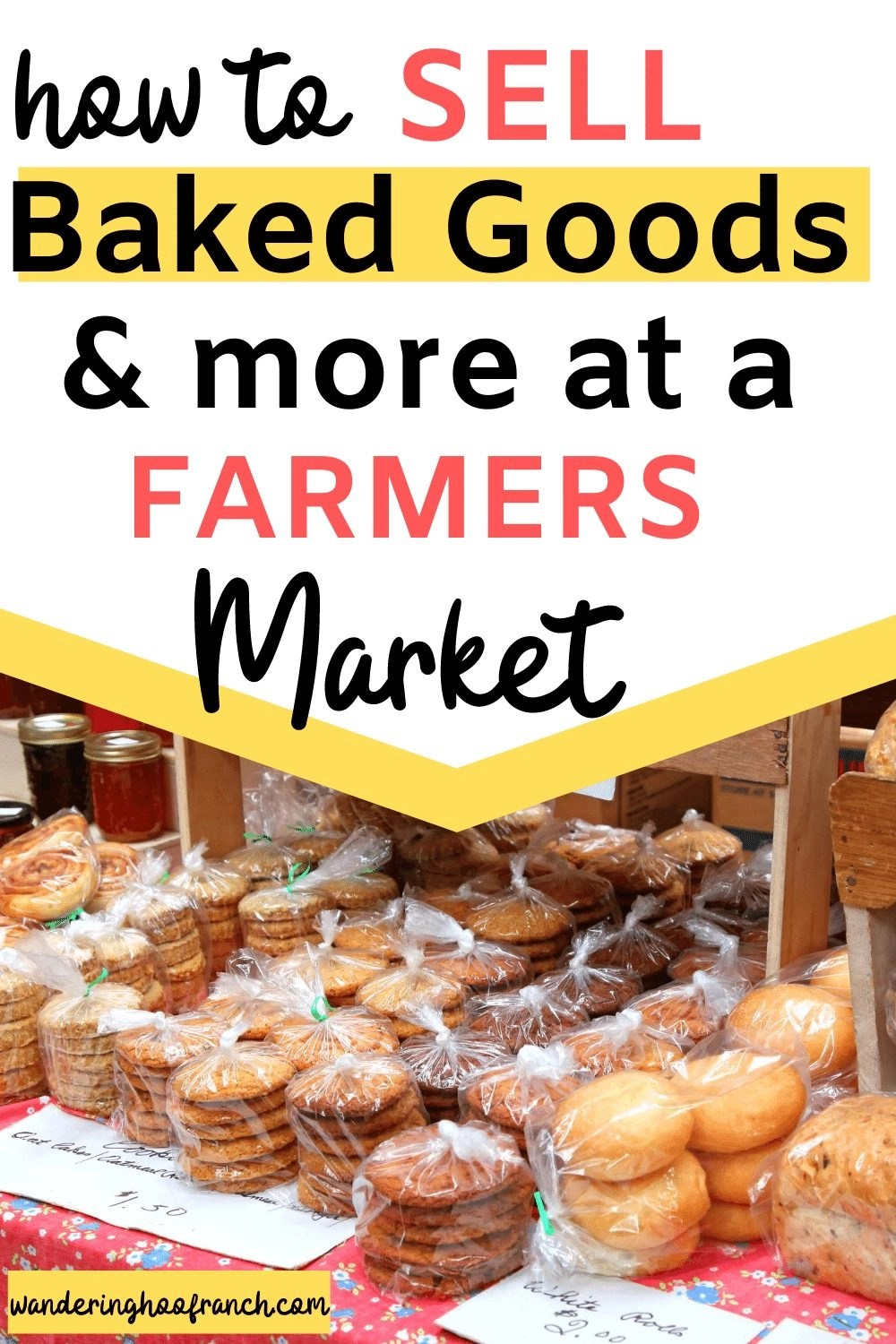 how to sell baked goods and more at a farmers market