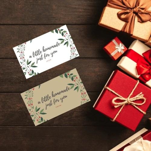 homemade gift tags
