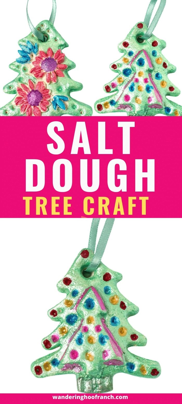 salt dough trees diy craft recipe