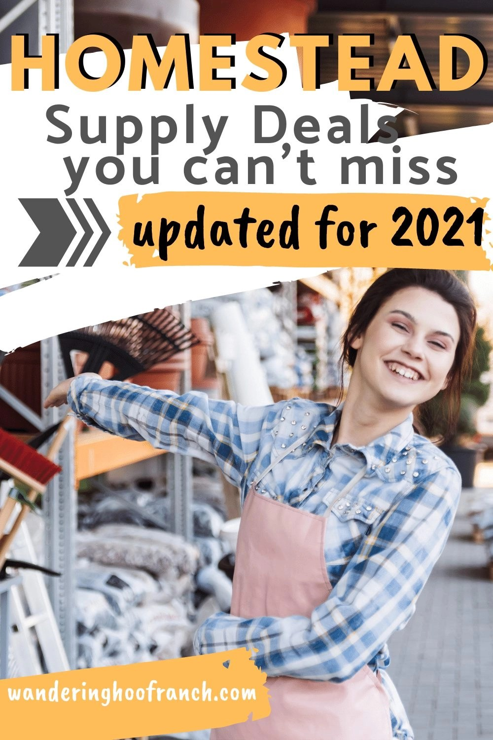 want to miss in 2021, girl happily working in a home and garden center