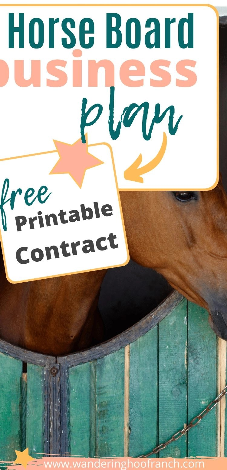 horse boarding business pin image