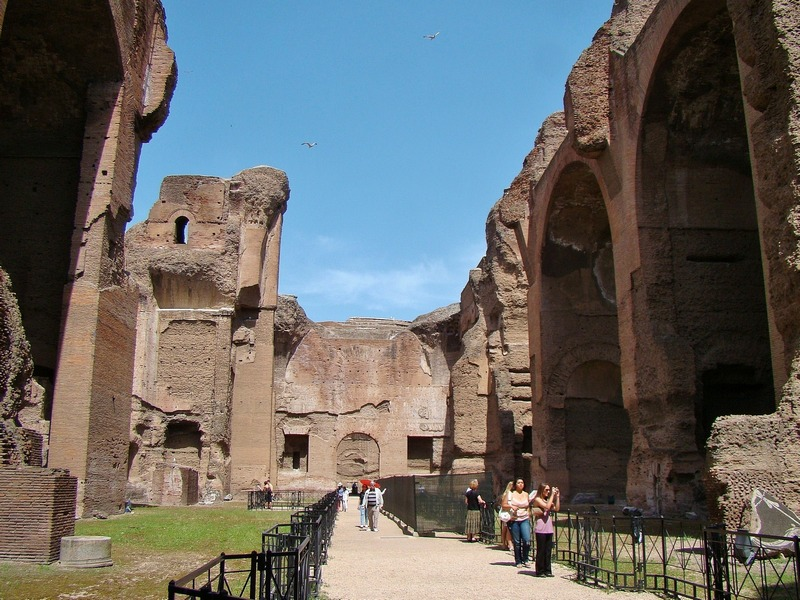 hidden history the baths of caracalla wandering jana. Black Bedroom Furniture Sets. Home Design Ideas